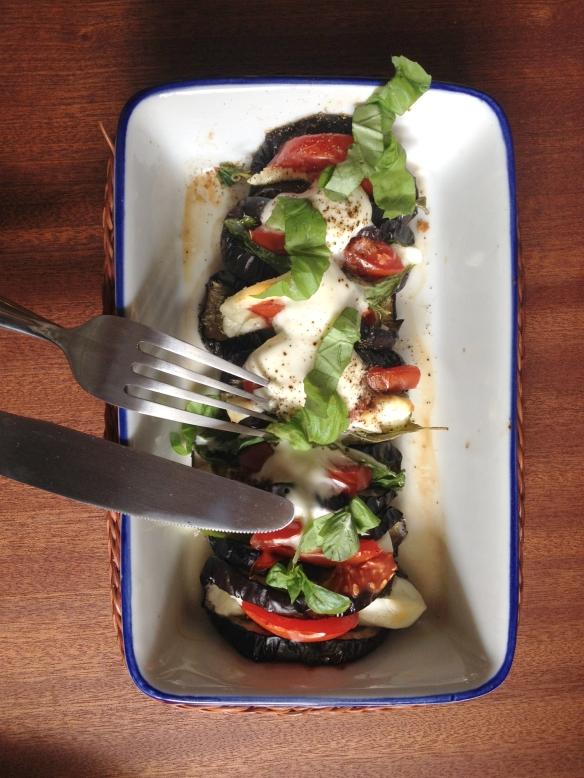 Auberginen-Tacos mit Tomate